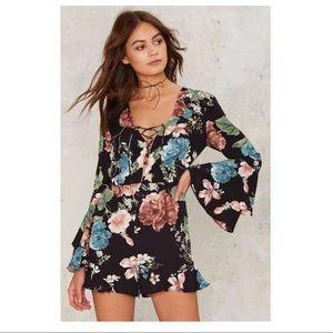 Bardot Floral Romper size Medium, Brand new!!